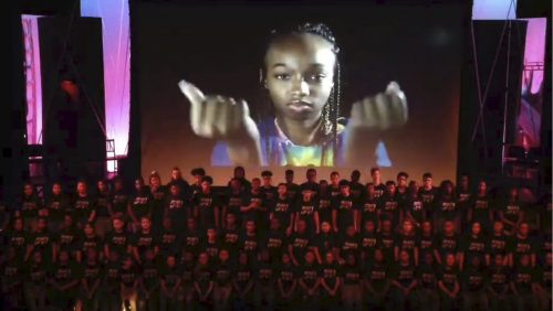 "Summer Stars campers perform live August 2019 to Andy Grammer's ""Don't Give Up"""